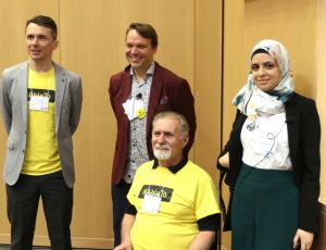 Boris Vukovic, Dean Mellway, Presenter and Zahra Mohammad at Enable 2019