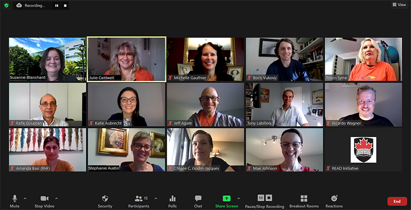 A screen shot of the inaugural members of the Governing Council who met for the first time on September 28, 2020. The CAN Governing Council is comprised of the Advisory Council Chair and the five Domain Area Committee Chairs.
