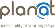 Planat logo: accessibility at your finger tips.