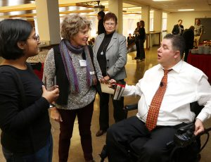 Minister Kent Hehr engaging with READi students
