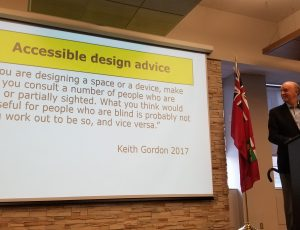 Keith Gordon speaking about accessible design