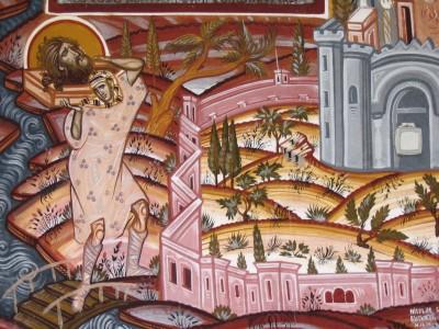 Fresco from a monastery in Bucharest, Romania