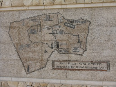 Modern mosaic of Ancient Jerusalem