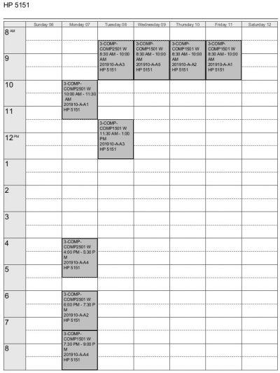 Lab Schedule Winter 2019