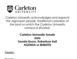 View Quicklink: Senate Agendas and Minutes