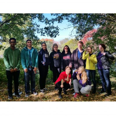 Day 30: Continuing at Fletcher's Wildlife Garden, Carleton students help clean up the community forest.