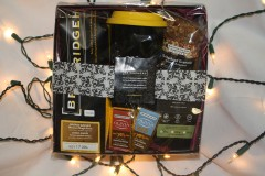 bridgehead gift basket and christmas lights