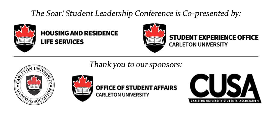 logos of Soar sponsors and organizers