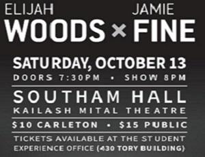 View Quicklink: Concert Announcement: Elijah Woods x Jamie Fine