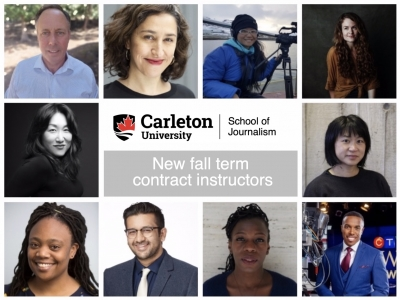 Photo for the news post: Veteran journalists join Carleton's journalism program this fall as contract instructors