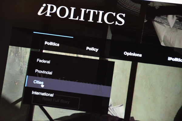 Screenshot of iPolitics