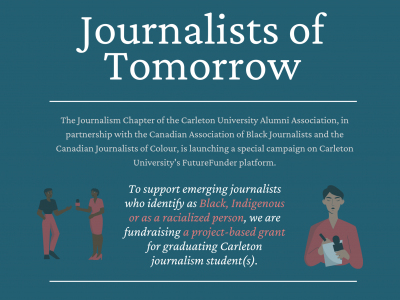Photo for the news post: J-School grads create new award for Black, Indigenous and racialized journalism students
