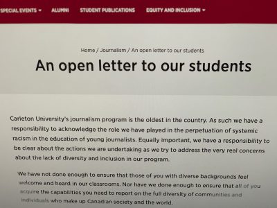 Photo for the news post: Journalism program to create new academic chair as part of diversity and inclusion plan