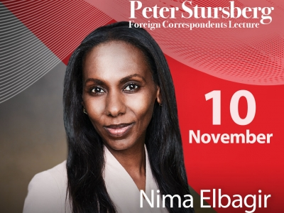 Photo for the news post: Correspondent Nima Elbagir will deliver the 2021 Stursberg Lecture: Humanity and the Foreign Correspondent