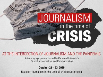 Photo for the news post: Journalism in the Time of Crisis: Save the date and symposium registration