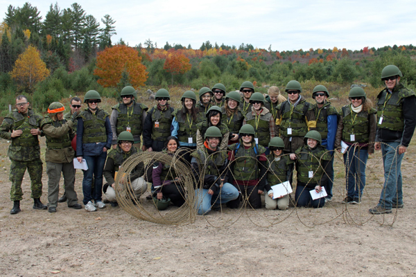 Enrol in an exciting course that puts you in the field on a Canadian military base