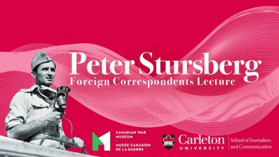 Thumbnail for: Introduction – Third Annual Peter Stursberg Lecture