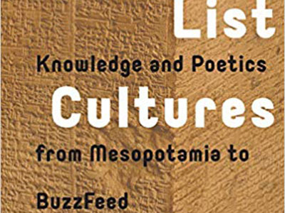 Photo for the news post: Liam Young | List Cultures: Knowledge and Poetics from Mesopotamia to Buzzfeed