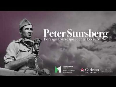 Thumbnail for: Introduction – The Peter Stursberg Foreign Correspondents Lecture