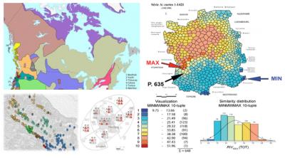 Different visual representations of language distribution