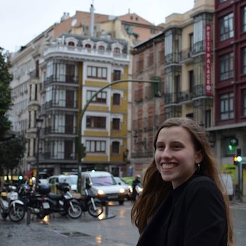 Judith in a Spanish speaking city