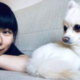 Yiwen & her little white dog