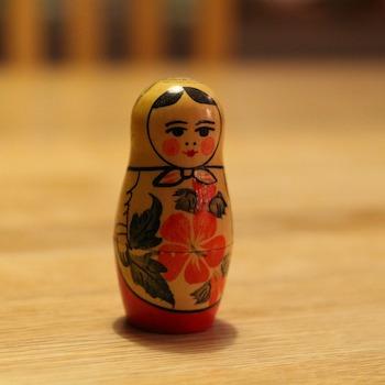 Matryoshka doll on a table