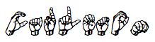 Finger spelling of Carleton