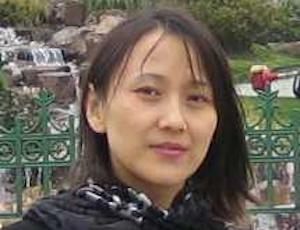 Xuemei Li in a garden