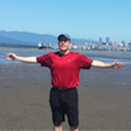 John Haggerty on the beach in Vancouver