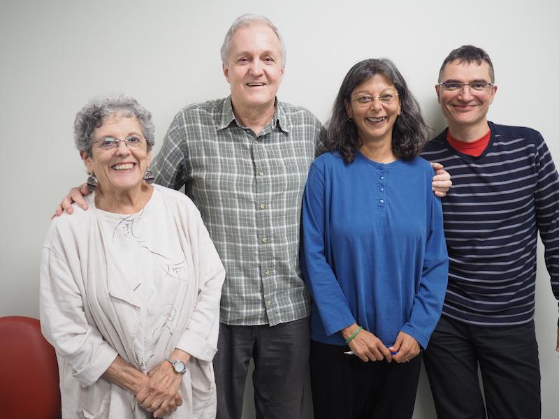 Lynne, Graham, Saira, Guillaume