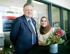 Robert Shepherd and DPE graduate Sobia-Hafeez at convocation 2017