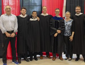 Glen Toner, Graeme Auld, Alex Mallett, and SEP students at 2018 convocation