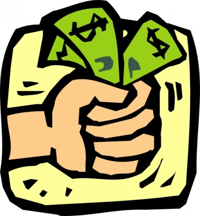image of hand holding out money