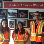 Student Affairs staff wearing safety vests