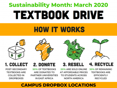 Photo for the news post: Sustainability Month: Textbook Drive