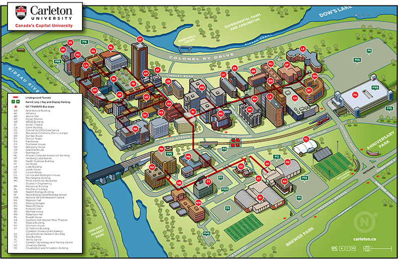 A map of Carleton University