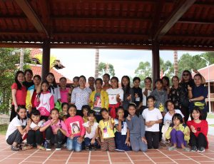 A group photo of women and girls from the project