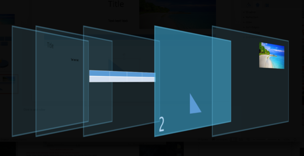 Screenshot of 3D viewer for ordering objects in Mac power point