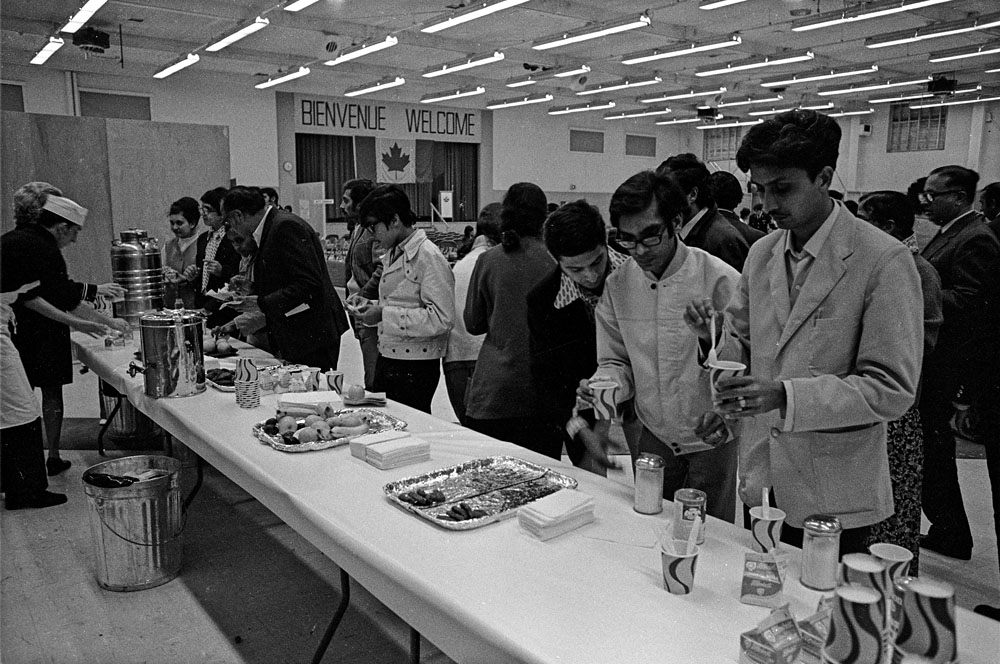 Refreshments of many sorts were served on an around the clock basis to the many Ugandan Asians that were processed at CFB Montreal Longue Pointe upon their arrival in Canada.