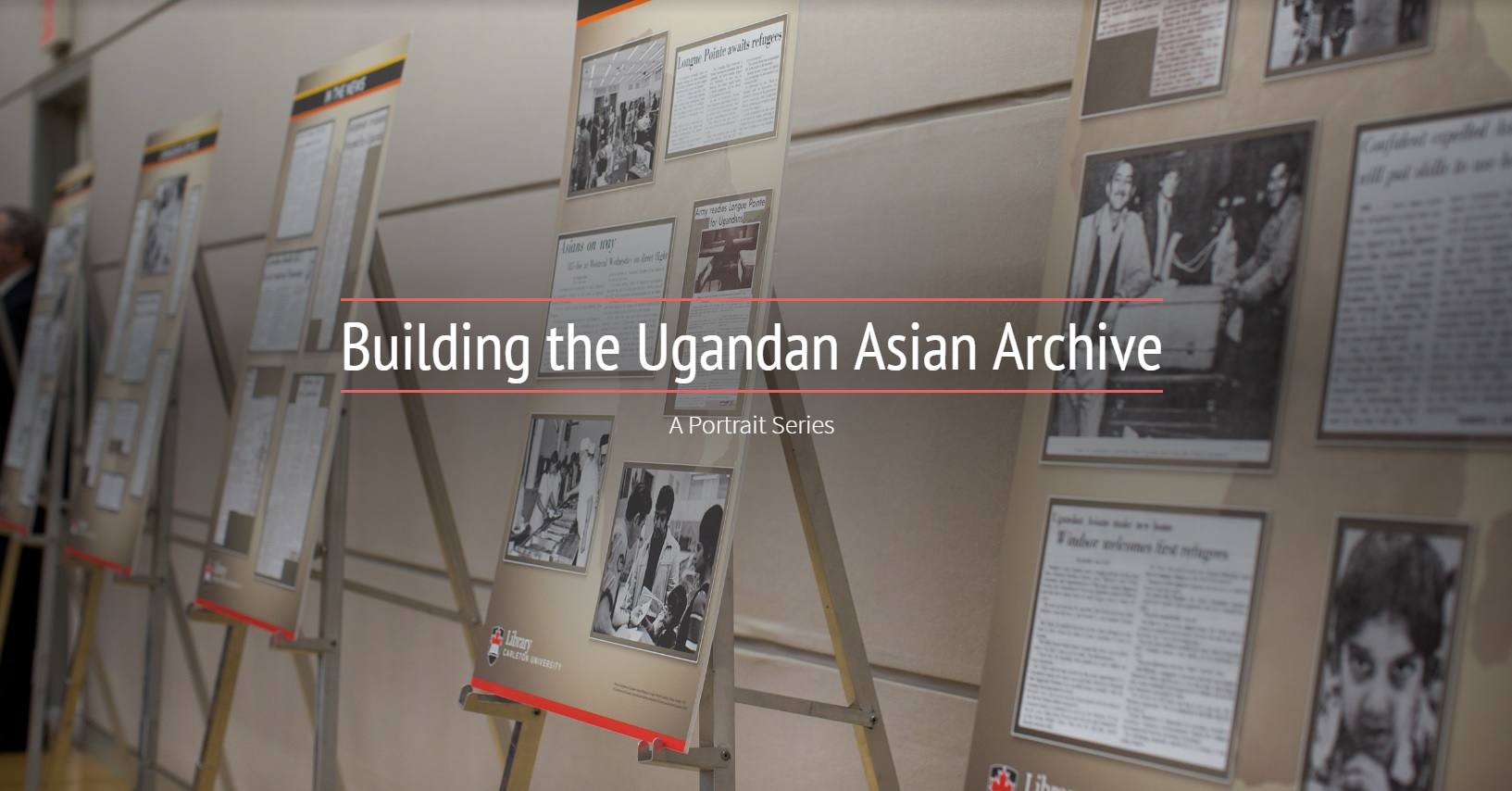 "Photo of the cover of the Adobe Sparks Presentation ""Building the Ugandan Asian Archive: A Portrait Series"""