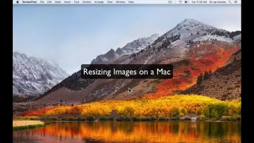 Thumbnail for: Resizing Images on a Mac