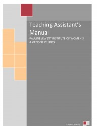 image of teaching assistant's manual cover