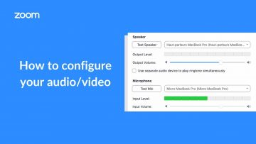 Thumbnail for: How to Configure your Zoom Meeting Audio/Video