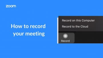 Thumbnail for: How to Record a Zoom Meeting