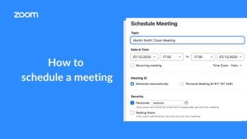 Thumbnail for: How to Schedule a Zoom Meeting
